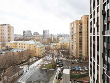 Luxury room overlooking several districts of Moscow